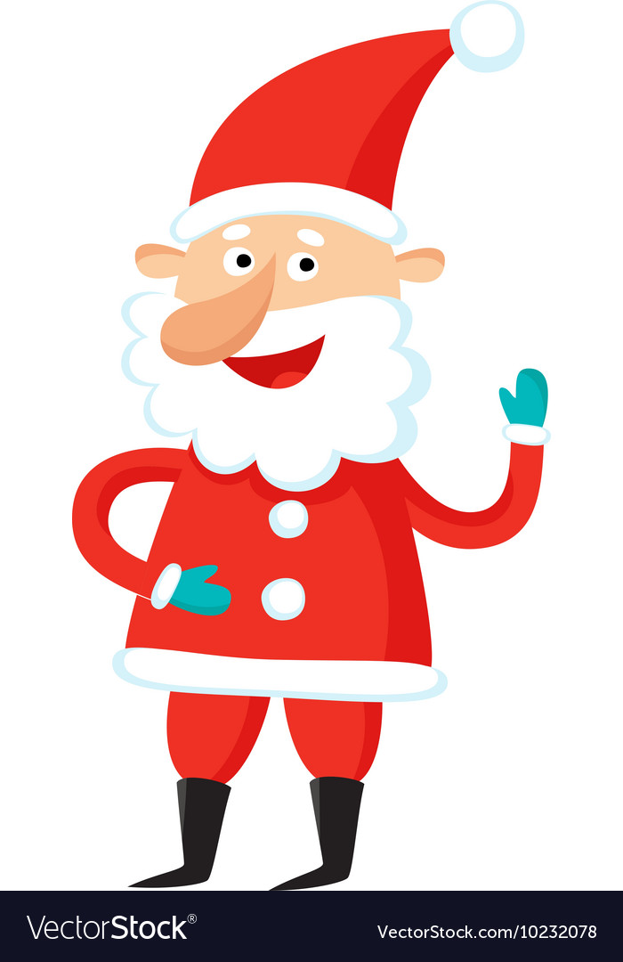Cartoon Santa Claus isolated on white background