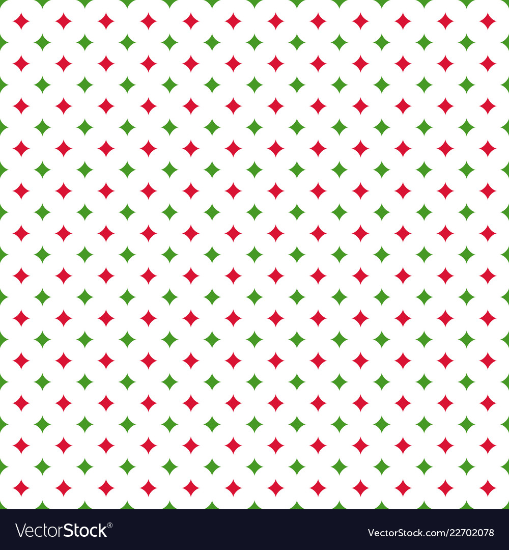 Christmas seamless pattern with quadrangular stars