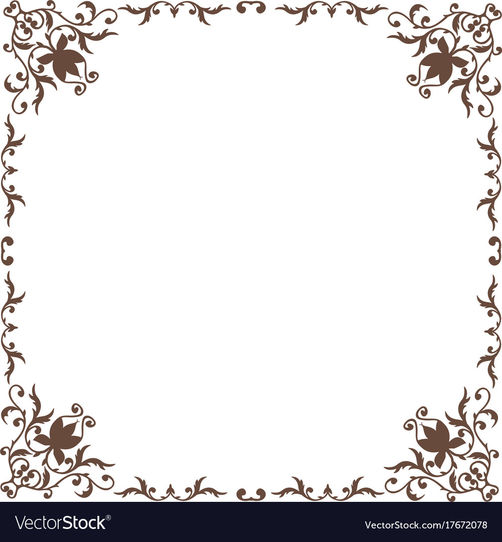 2764bab91841 Decorative square frame vintage style Royalty Free Vector