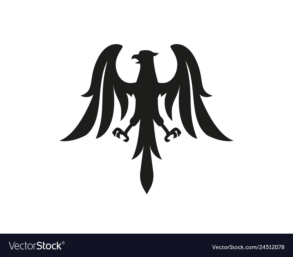 Eagle symbol logo or tattoo concept