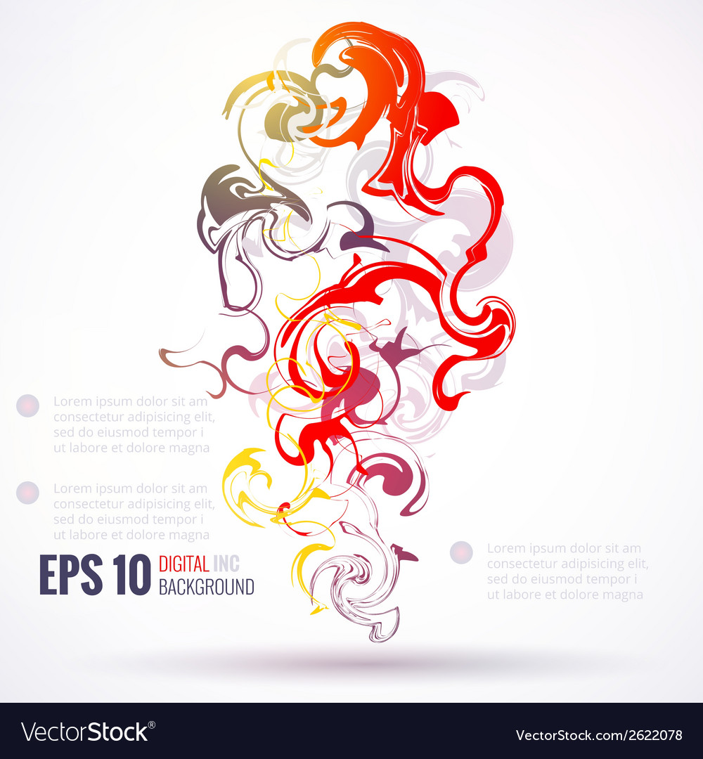 EPS 10 ink abstract background