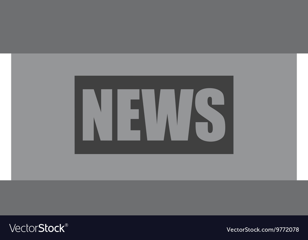 News podium isolated icon design