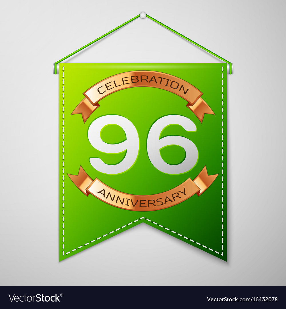 Ninety six years anniversary celebration design vector image