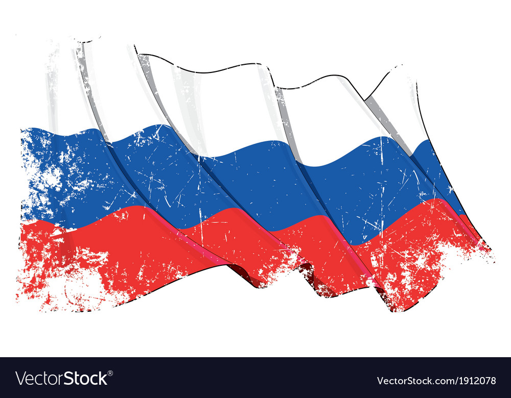 Russia national flag grunge