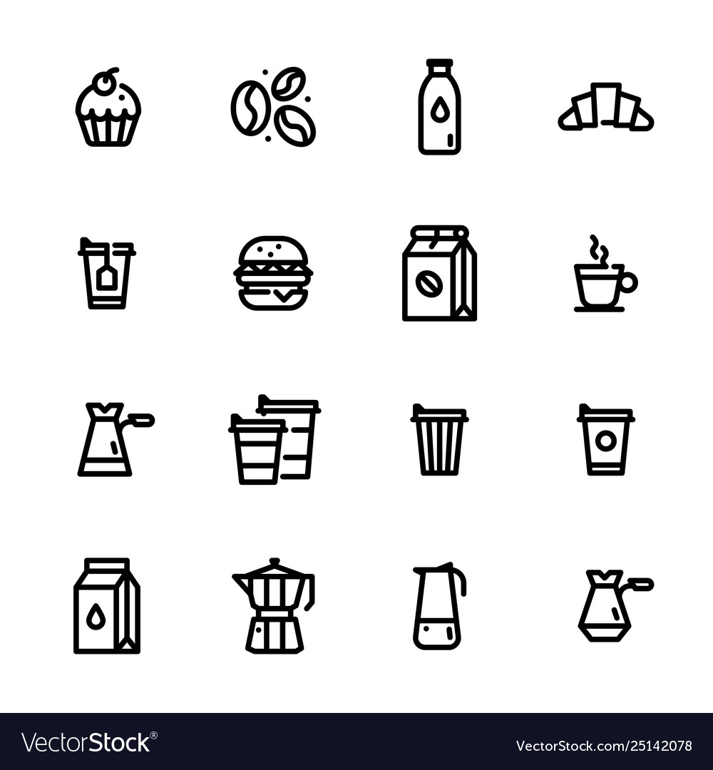 Set flat icons coffee