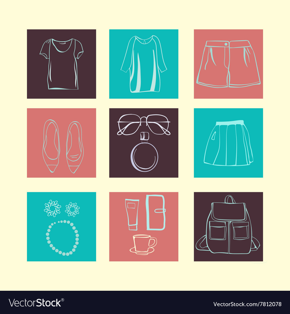 SummerFashion accessories collection vector image