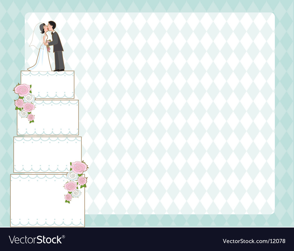 Wedding cake invite vector image