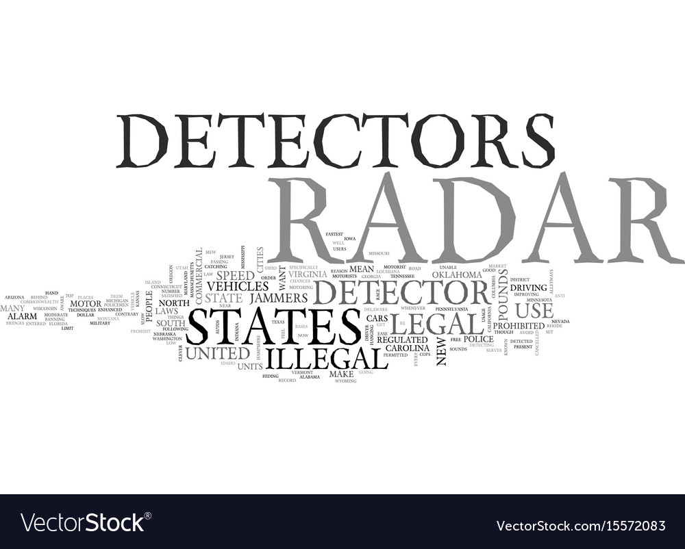 Are Radar Detectors Legal >> Are Radar Detectors Legal In The Us And In Which Vector Image
