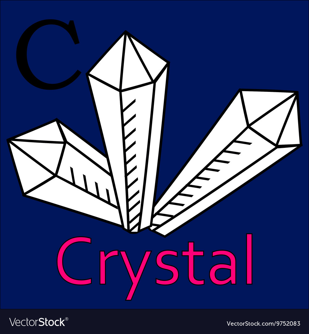 C letter crystal Coloring microscope