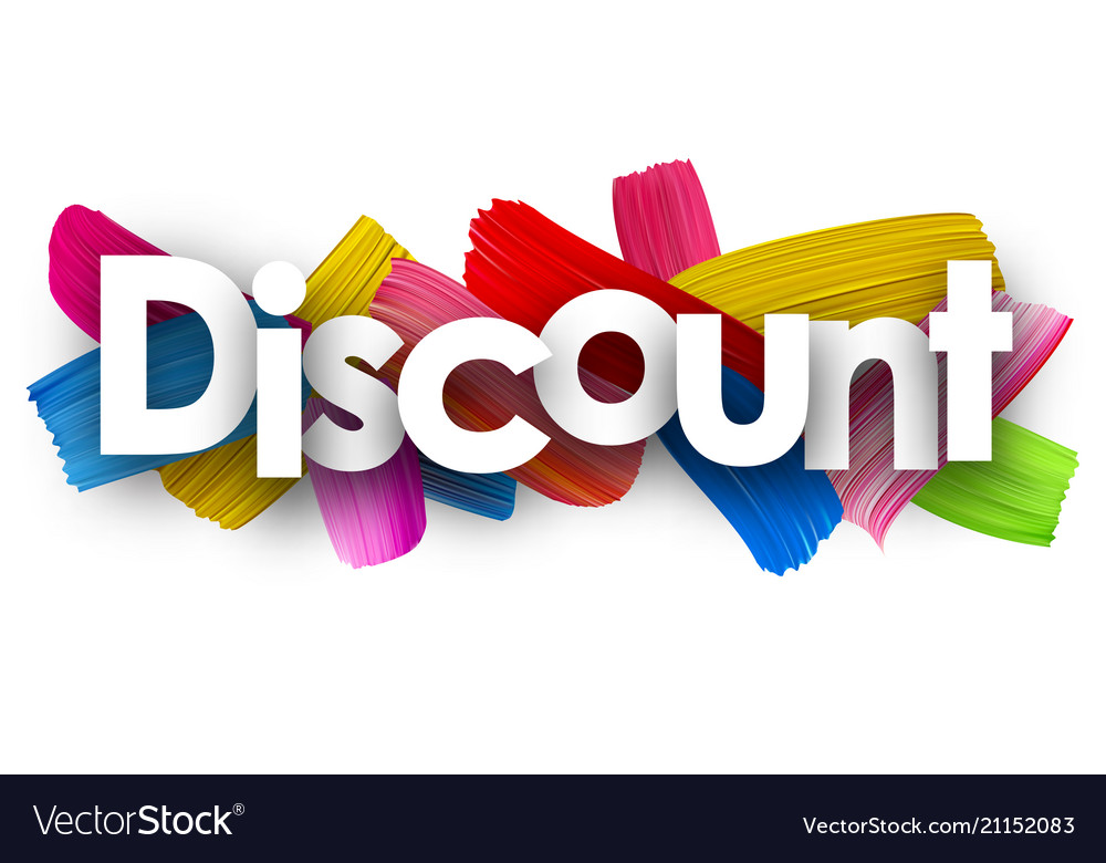 Discount poster with brush strokes