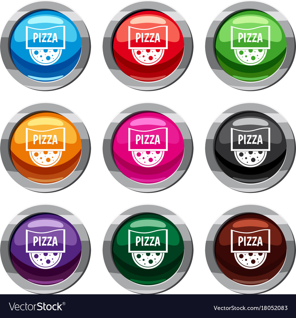 Pizza badge or signboard set 9 collection