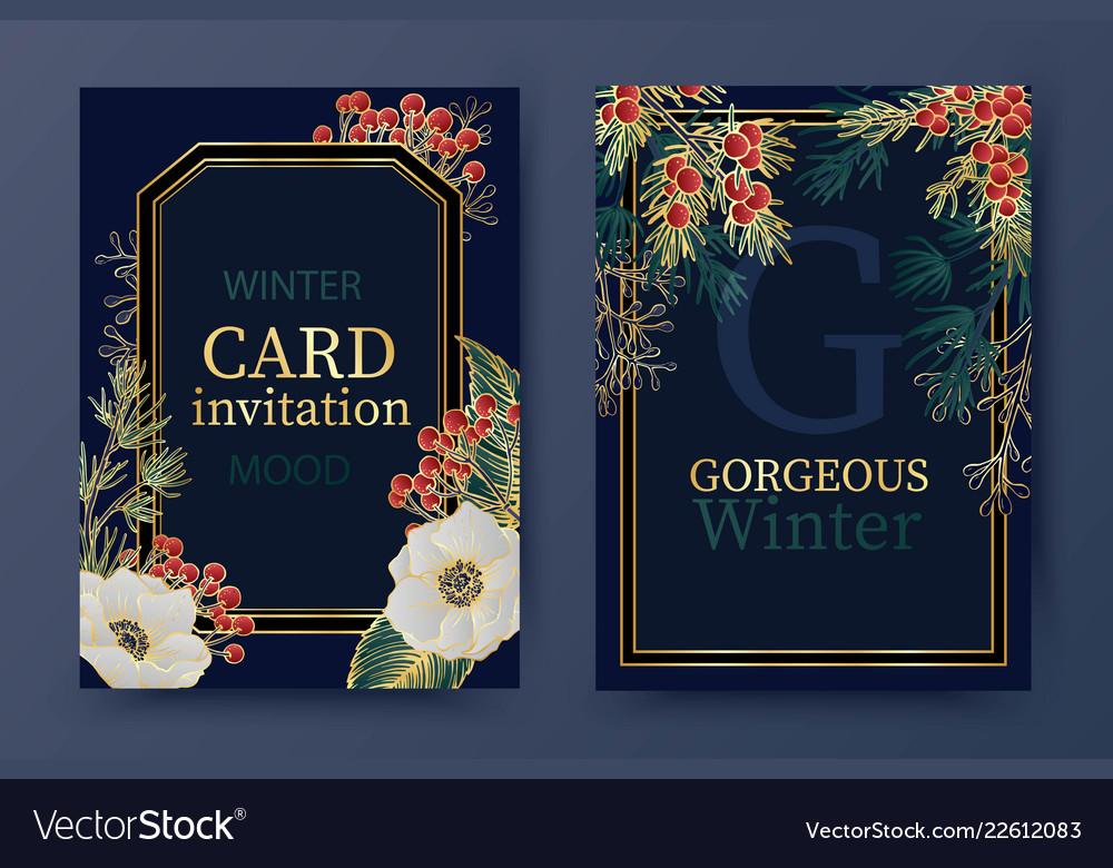 Winter Holiday Background Invitation Wedding