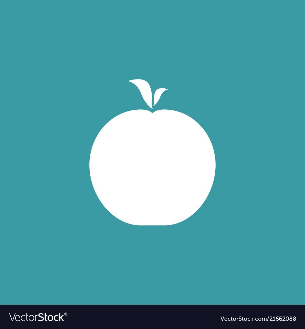 Apple icon simple gardening element symbol