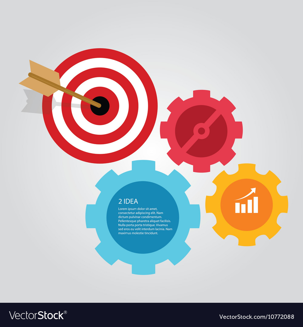 Business target infographic dart board arrow