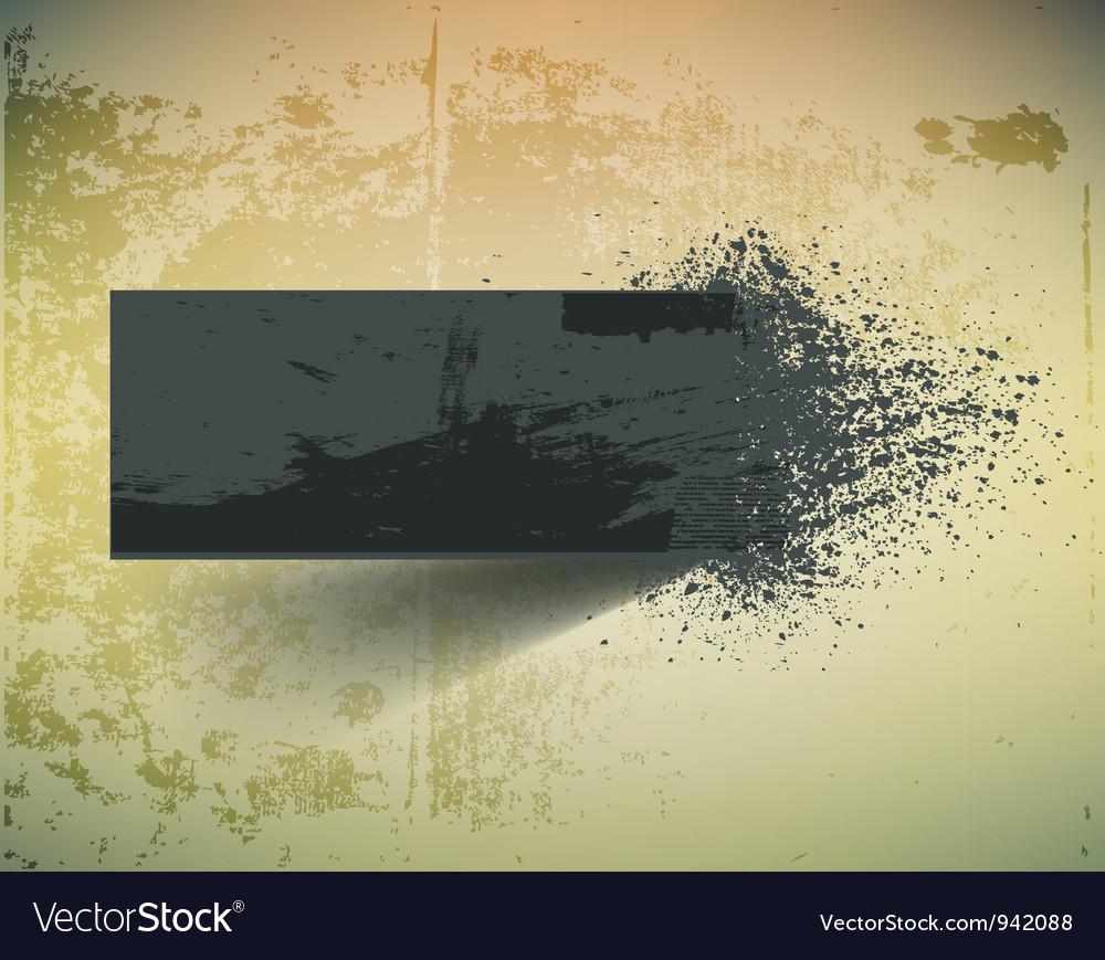 Dark grunge ink splash banner vector image