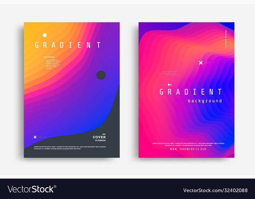 Fluid gradient modern poster with fluid shape