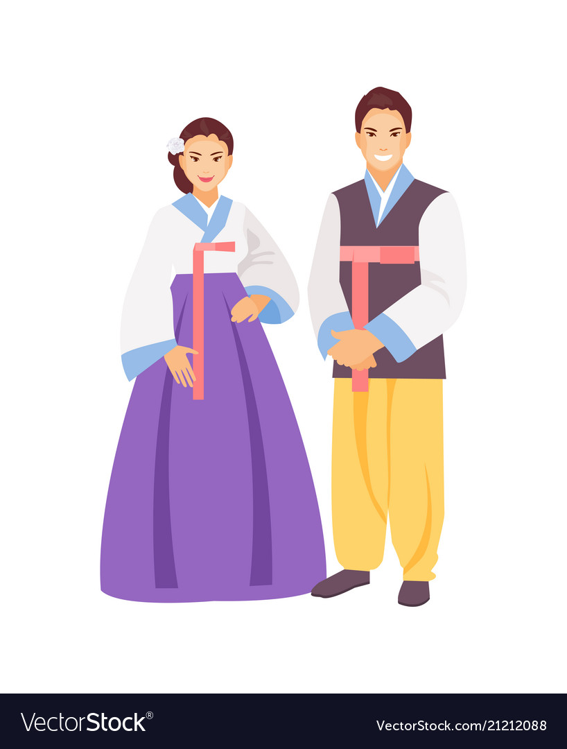 Korean clothing Royalty Free Vector Image - VectorStock