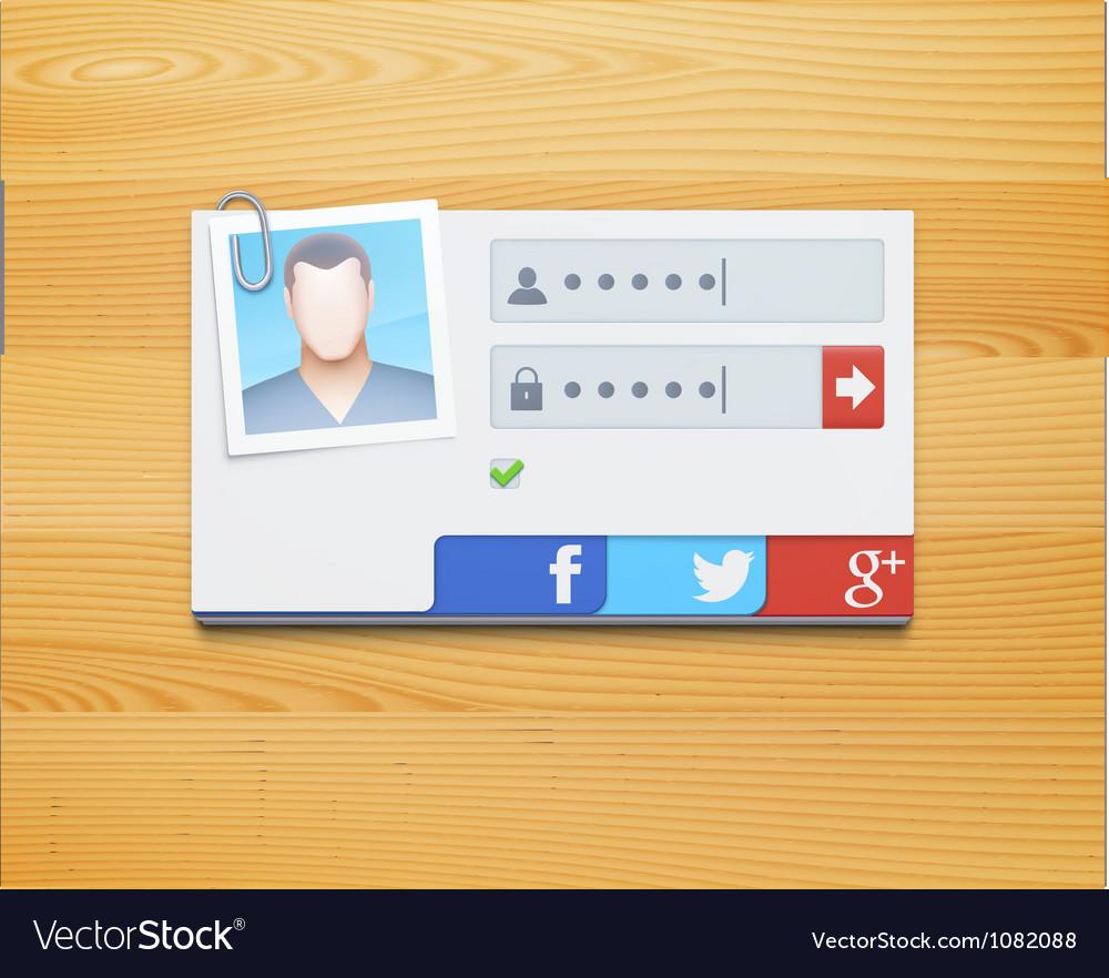 Login screen concept