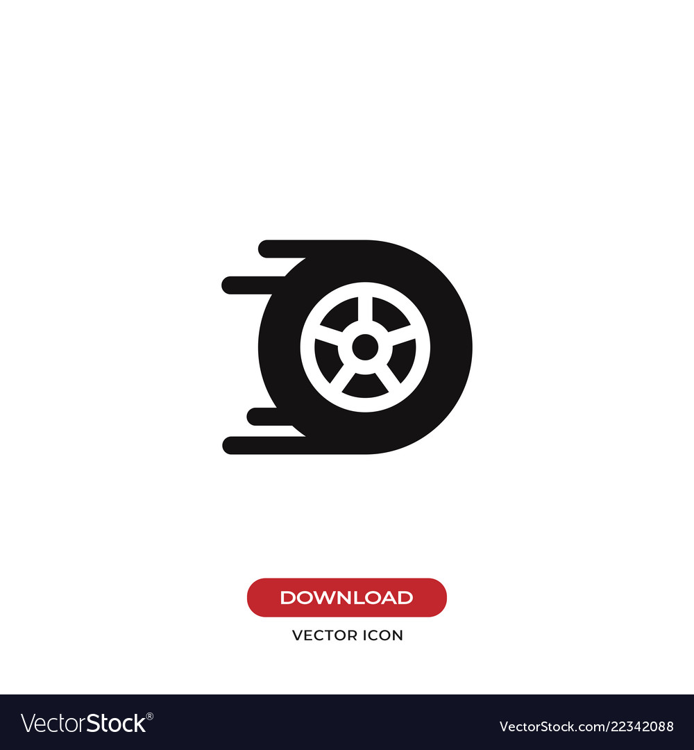 Racing car wheel icon