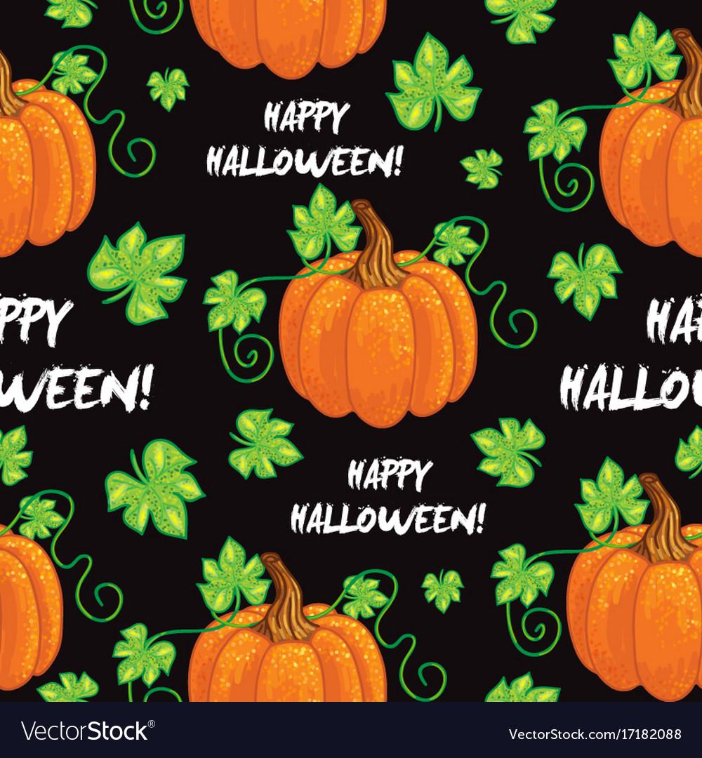 Seamless happy halloween pattern