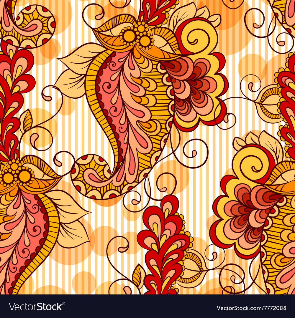 Seamless pattern based on traditional Asian