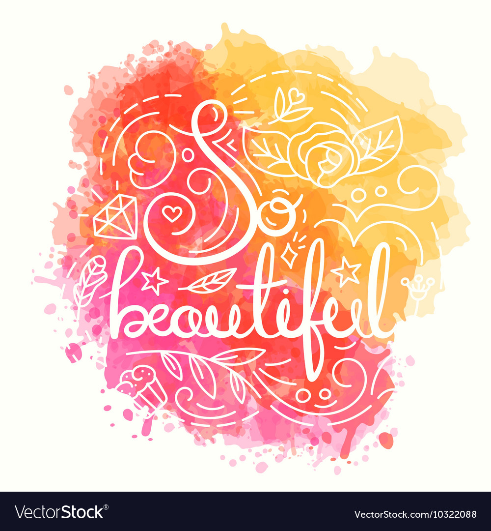 So beautiful typography design Royalty Free Vector Image