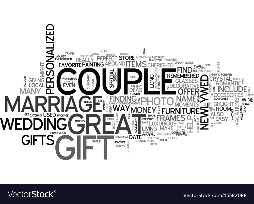 Where To Find Great Marriage Gifts Text Word