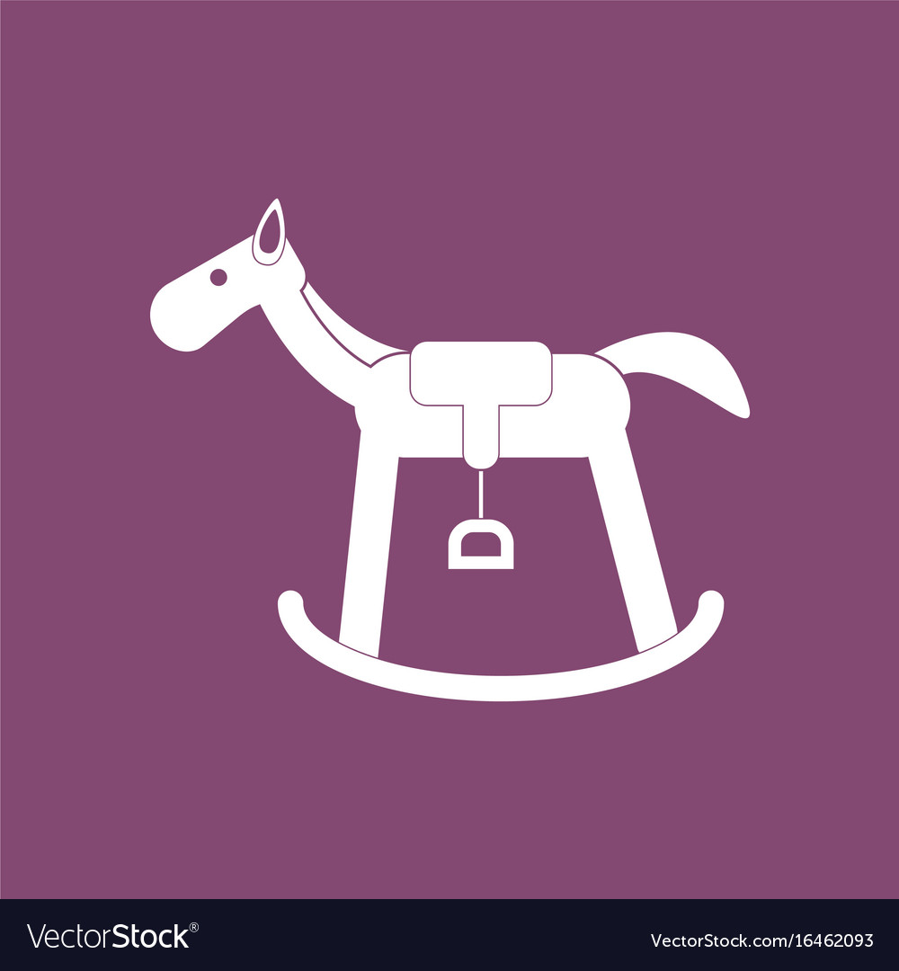 Icon On Background Kids Rocking Horse Royalty Free Vector