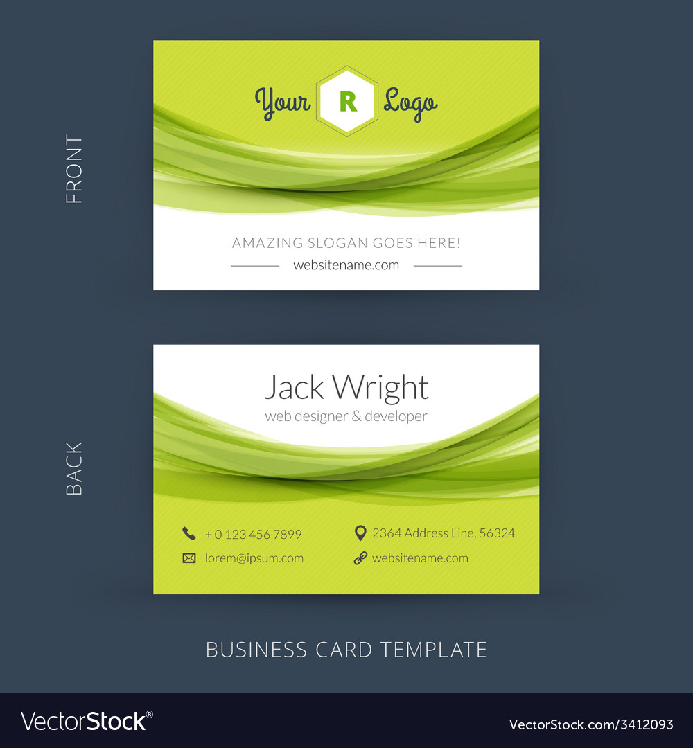 Modern Creative Business Card Template Flat Design