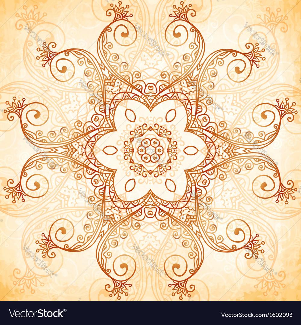 Ornate vintage pattern in mehndi style