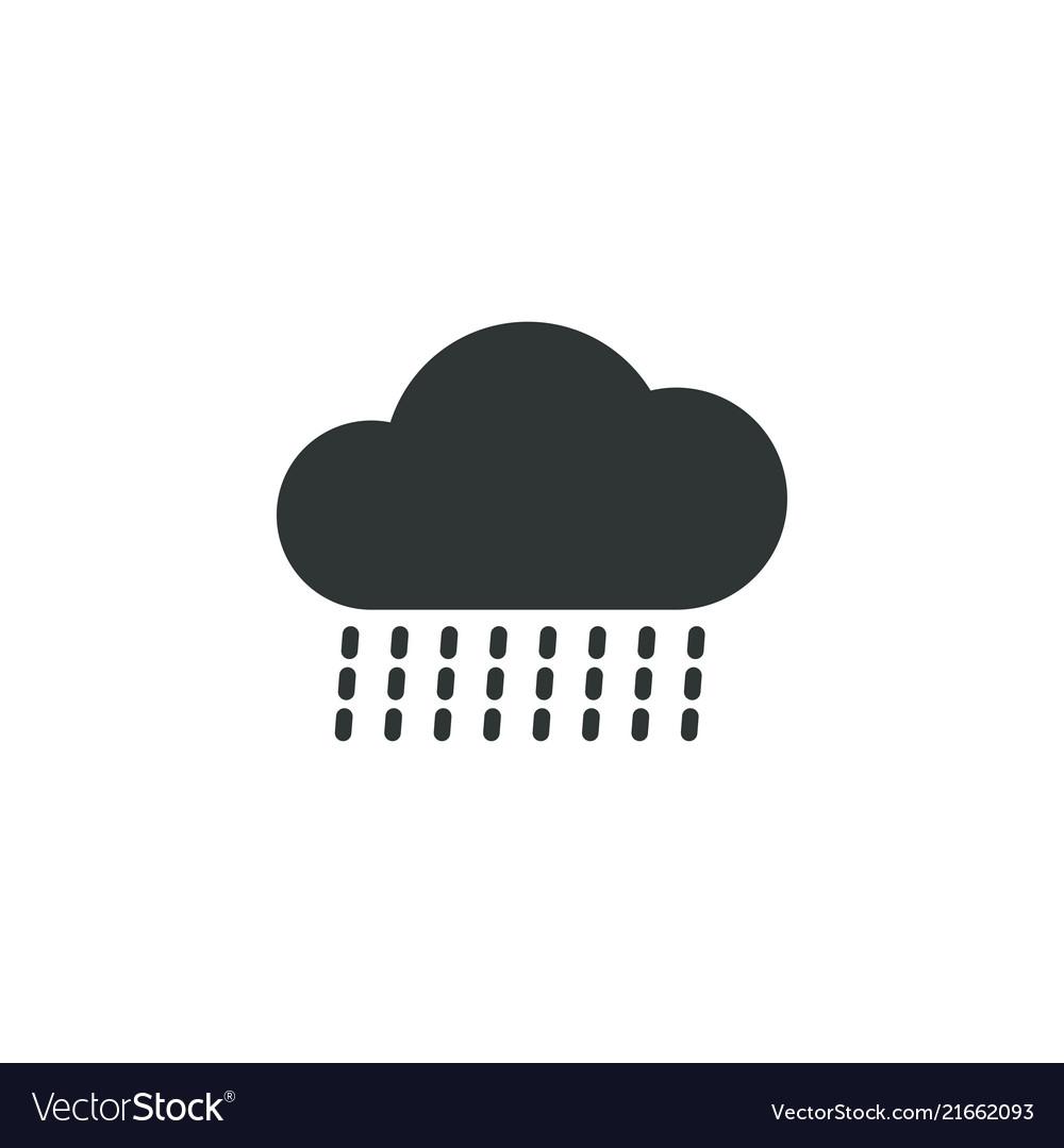 Rainy cloud icon simple gardening element symbol