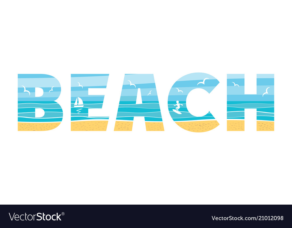 Beach in the double exposure