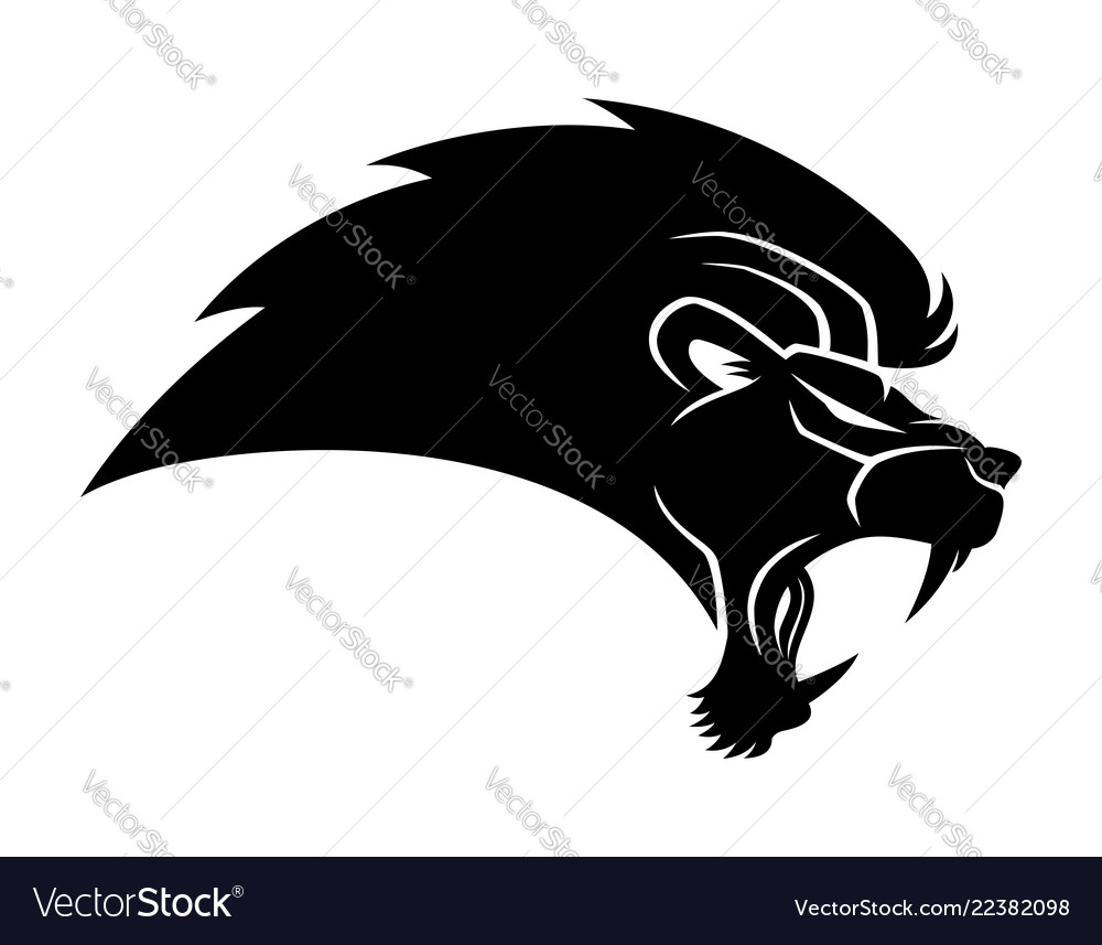 Black lion sign