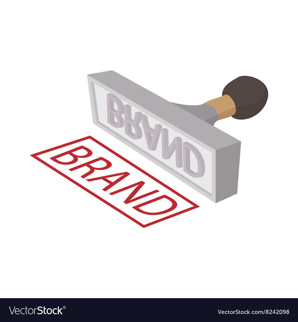 Brand stamp icon cartoon style