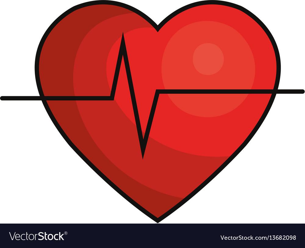 cardio heart icon royalty free vector image vectorstock