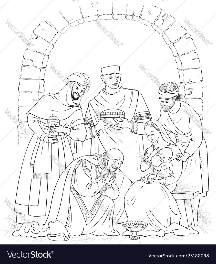 Free Jesus Birth Coloring Pages, Download Free Clip Art, Free Clip ... | 1080x885
