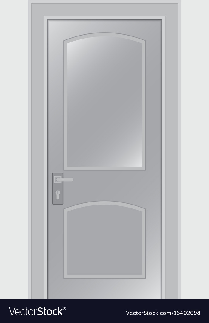 Door on a white background