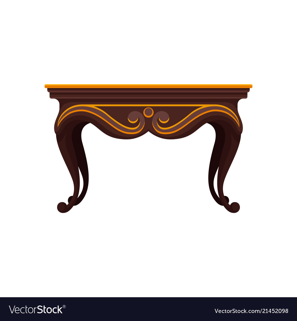 Marvelous Flat Icon Of Antique Wooden Table For Caraccident5 Cool Chair Designs And Ideas Caraccident5Info