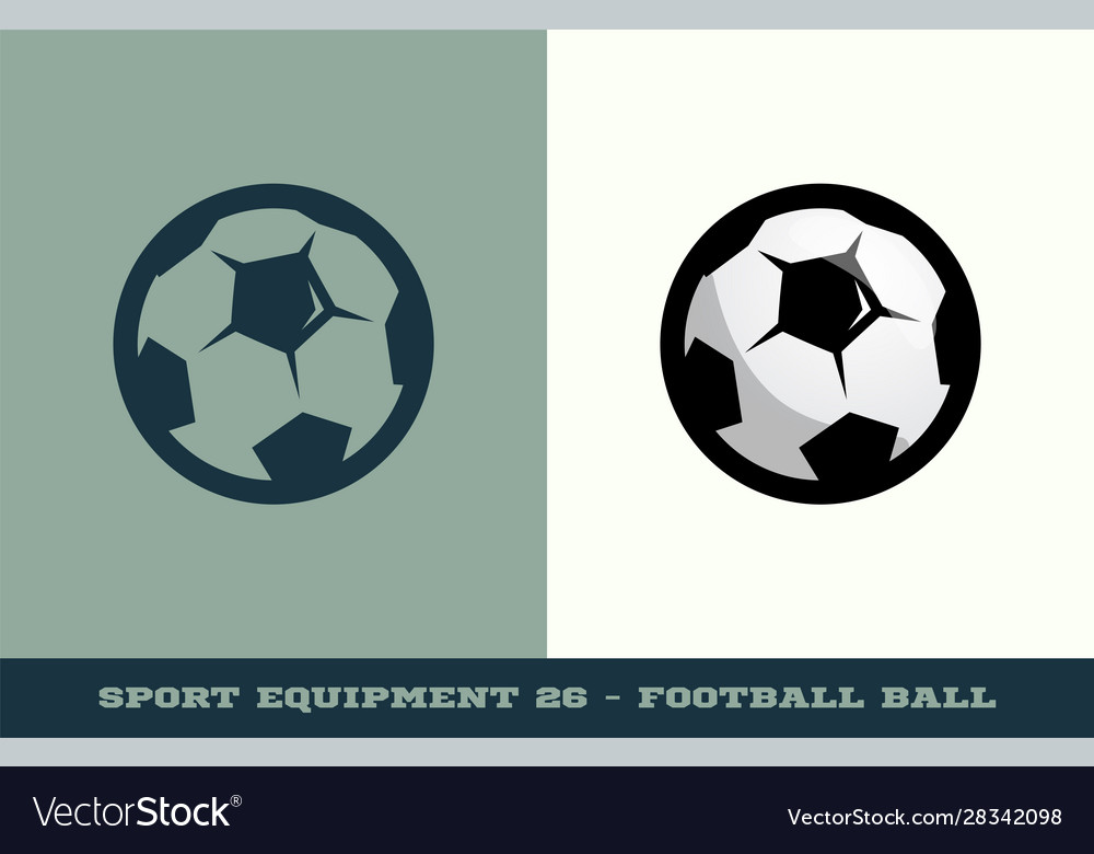 Football or soccer ball icon game equipment
