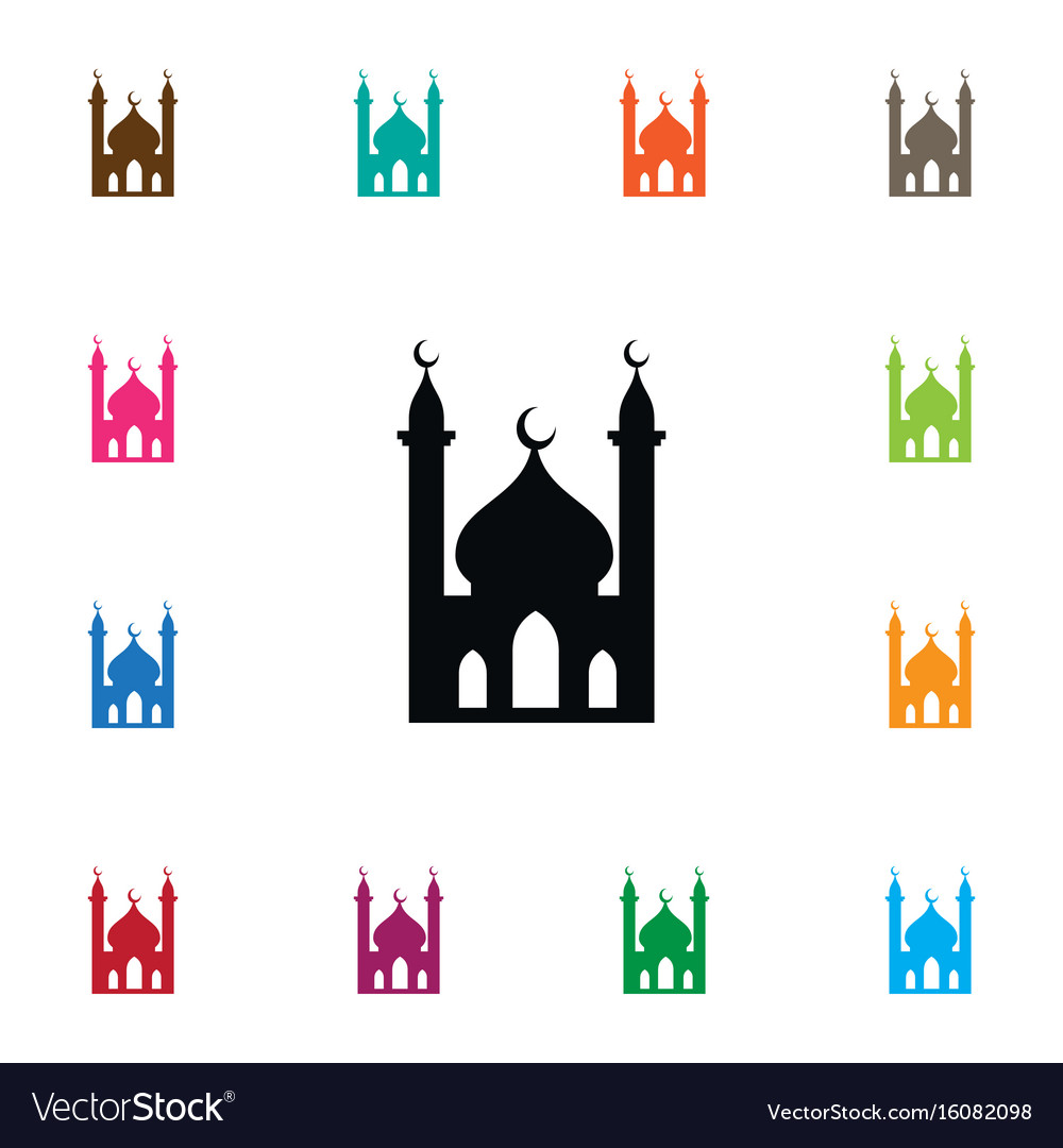 Isolated muslim icon religious element can