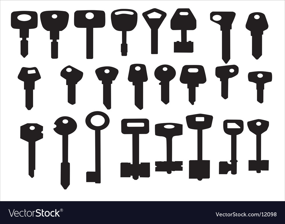 Keys for door and cars vector image