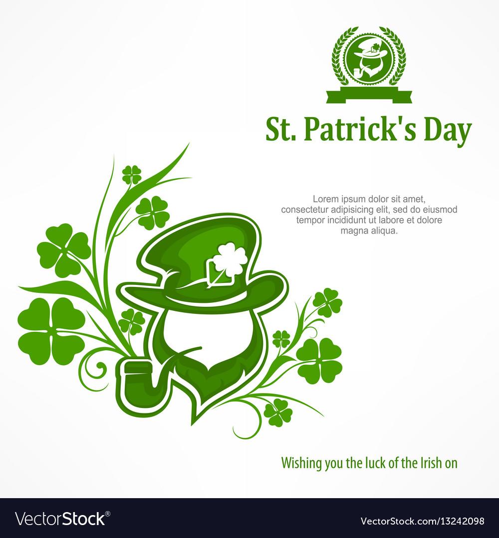 Leprechaun Lucky Symbols Text Royalty Free Vector Image