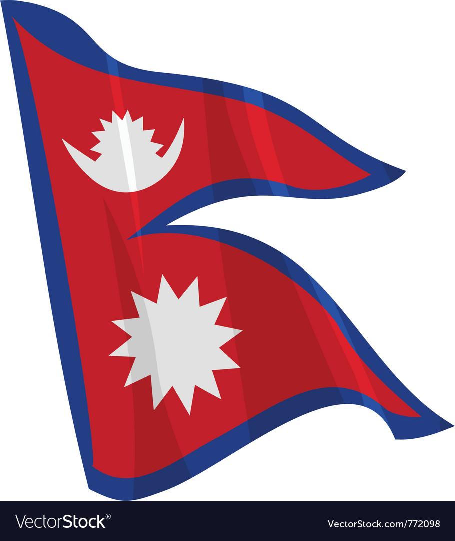 Political waving flag of nepal