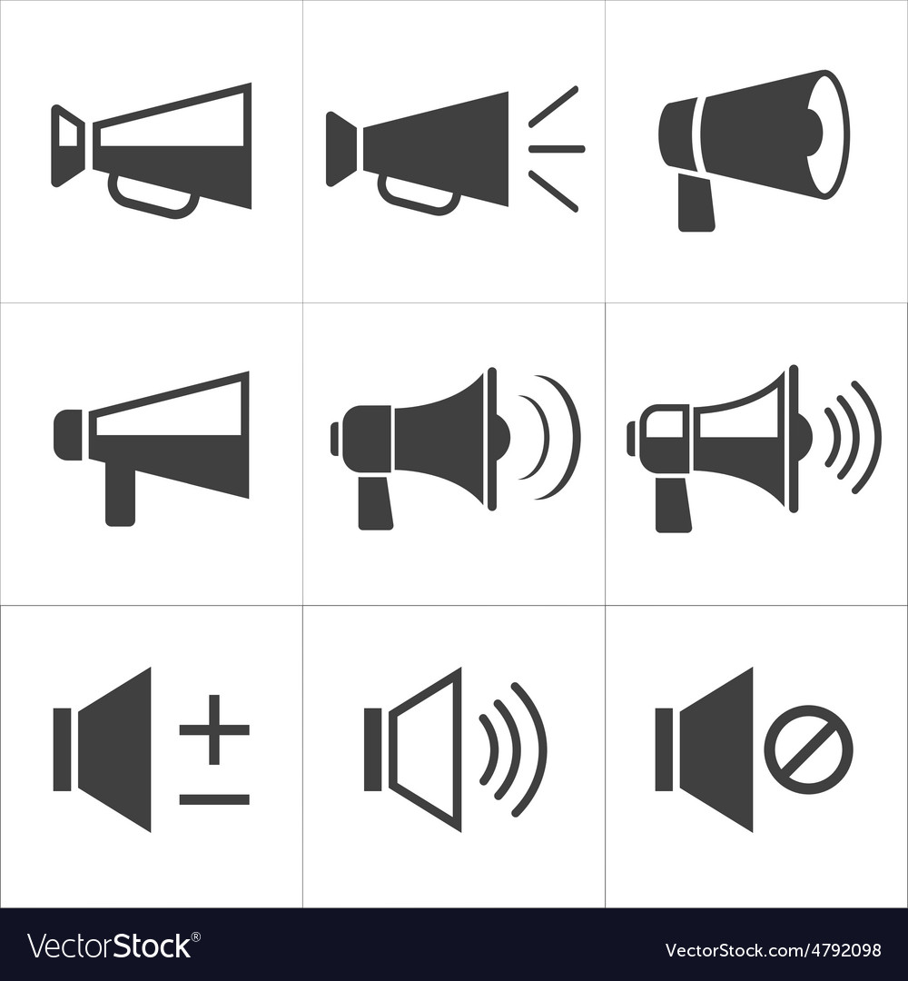 Set of megaphone icon vector image