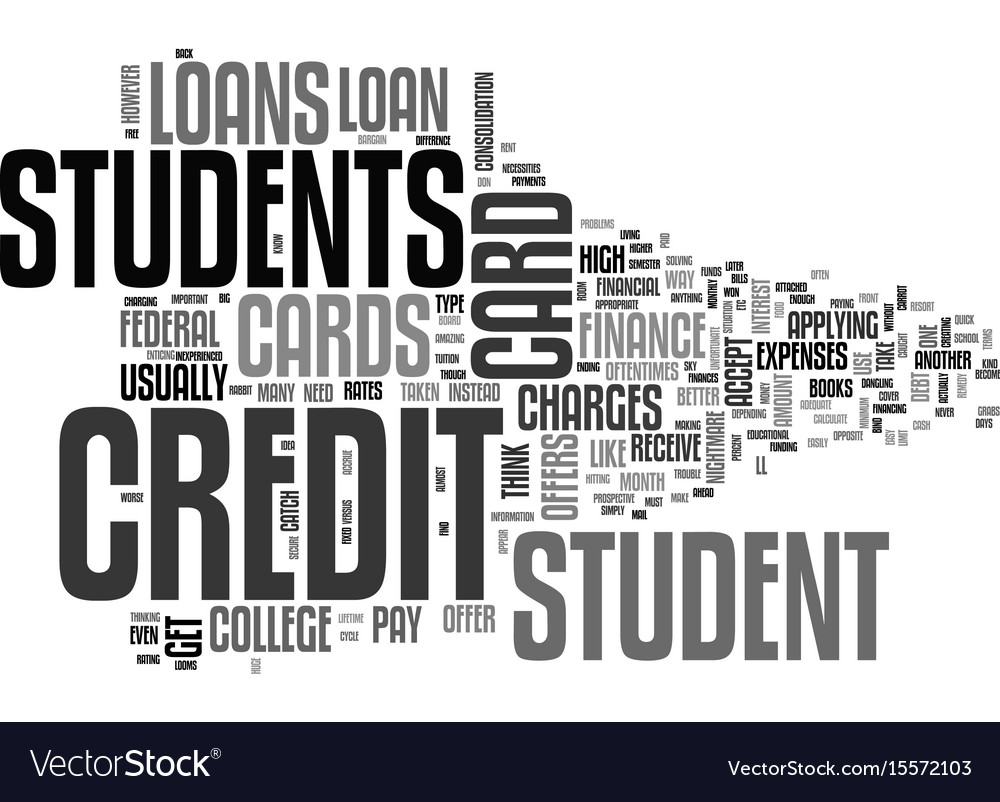 Are student loans better than credit cards text