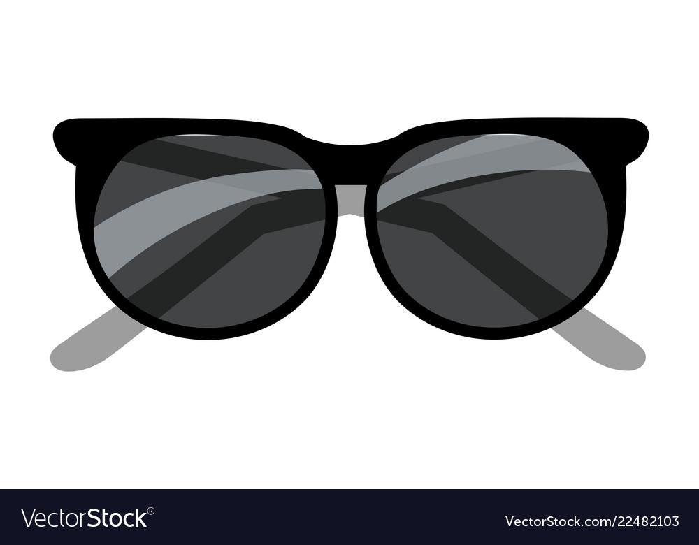 black sunglasses cartoon royalty free vector image  vectorstock