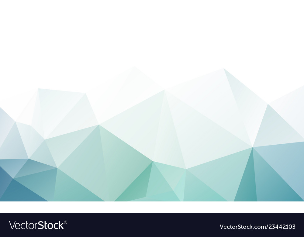 Blue green triangle polygonal geometric design