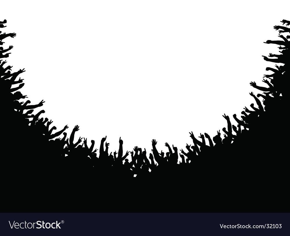 Crowd amphitheater vector image