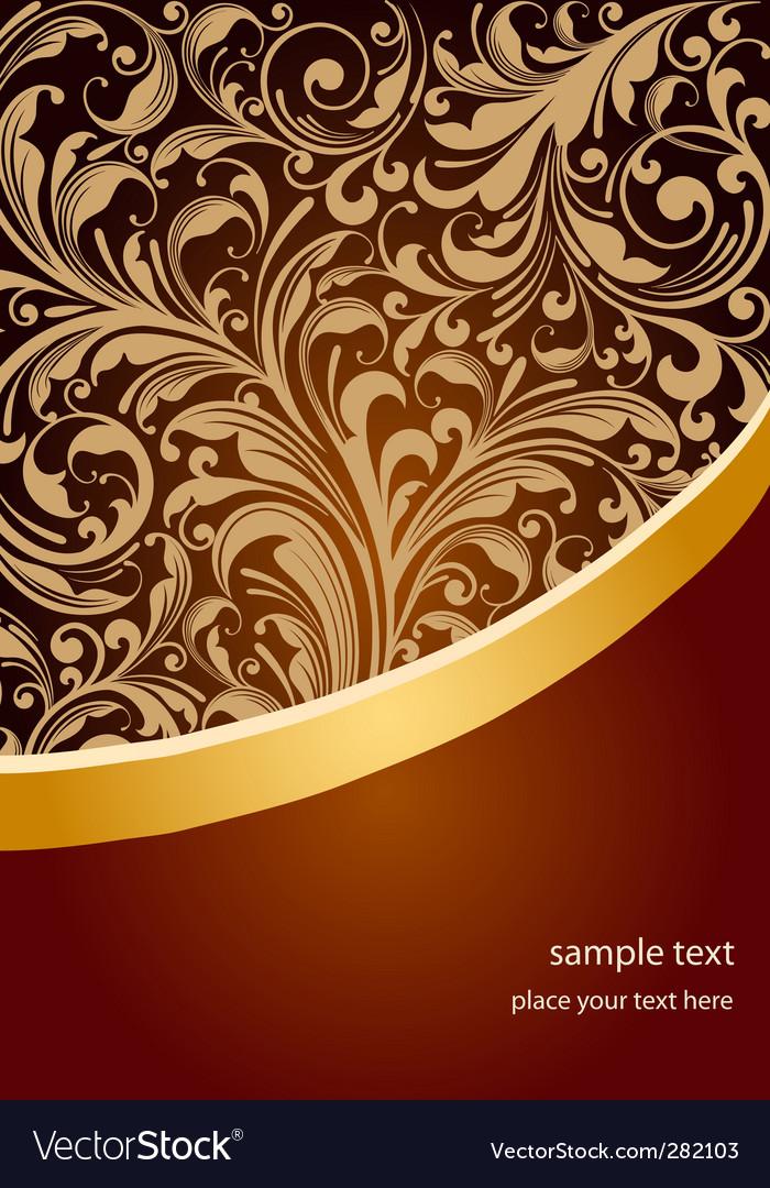Floral Design Background Royalty Free Vector Image