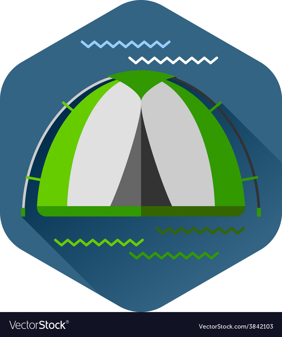 Graphical camping made in flat style